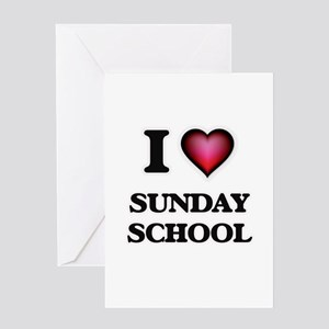 Sunday greeting cards cafepress i love sunday school greeting cards m4hsunfo