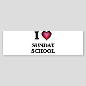 I love Sunday School Bumper Sticker