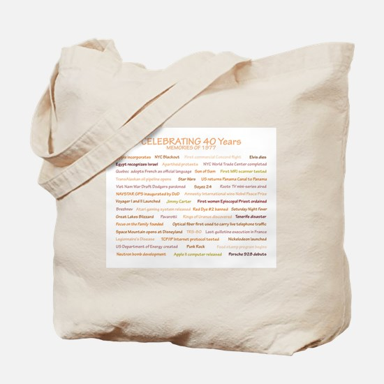 1977 Memories Tote Bag