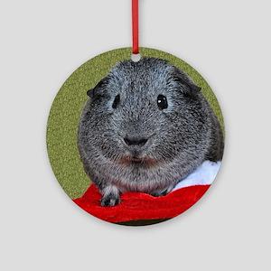 Guinea Pig Christmas Round Ornament