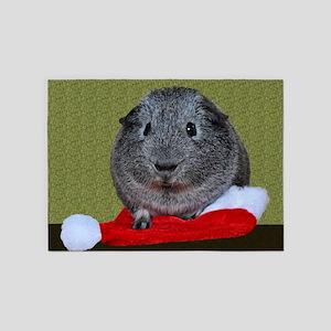 Guinea Pig Christmas 5'x7'Area Rug