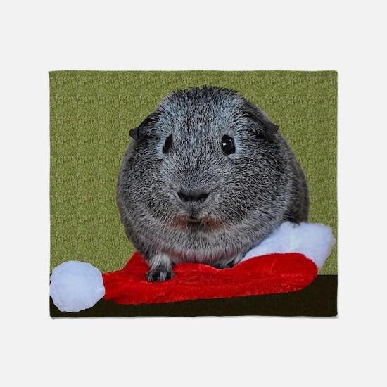 Guinea Pig Christmas Throw Blanket