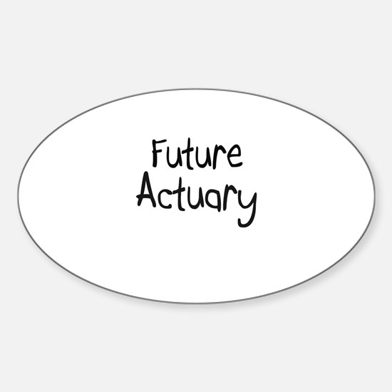 Future Actuary Oval Decal