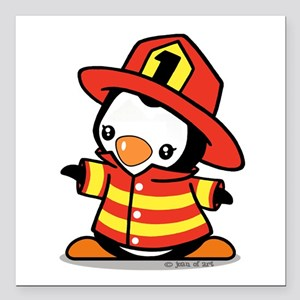 Penguin Fireman Car Accessories - CafePress