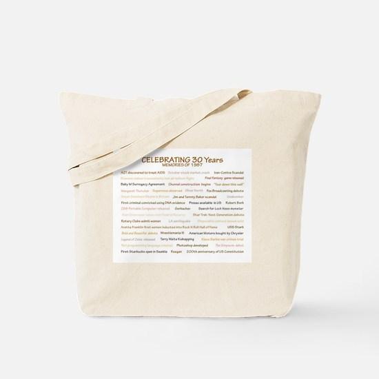 1987 Memories Tote Bag