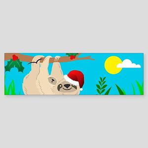 santa sloth Bumper Sticker