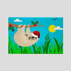 santa sloth Magnets