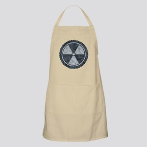 Distressed Gray Radiation Symbol Apron