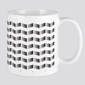 Black and White Modern Chevron Zigzag Mugs
