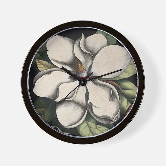 Vintage Magnolia Wall Clock