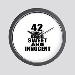 42 Years Of Being Sweet And Innocent Wall Clock