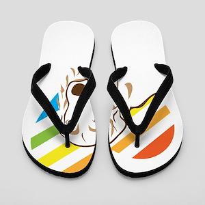 i love golden retriever Flip Flops