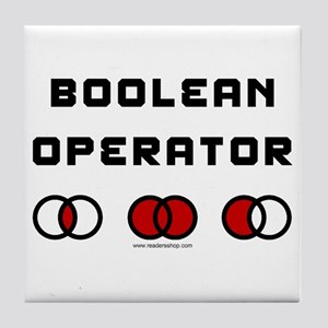 Boolean Operator Tile Coaster
