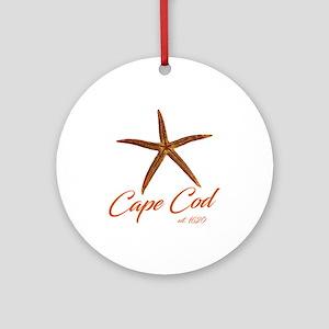 Cape Cod Starfish Round Ornament