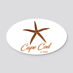 Cape Cod Starfish Oval Car Magnet