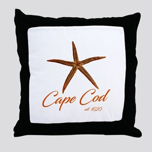 Cape Cod Starfish Throw Pillow