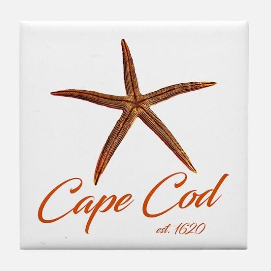 Cape Cod Starfish Tile Coaster