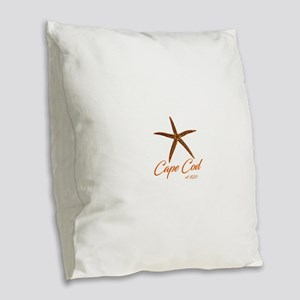 Cape Cod Starfish Burlap Throw Pillow