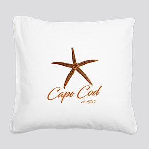 Cape Cod Starfish Square Canvas Pillow