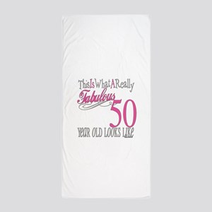Fabulous 50th Birthday Gifts Beach Towel