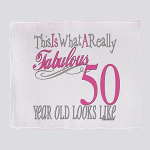 Fabulous 50th Birthday Gifts Throw Blanket