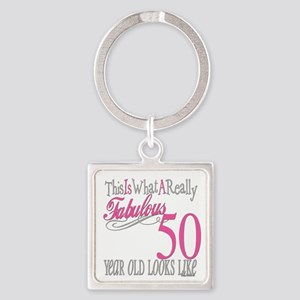 Fabulous 50th Birthday Gifts Keychains