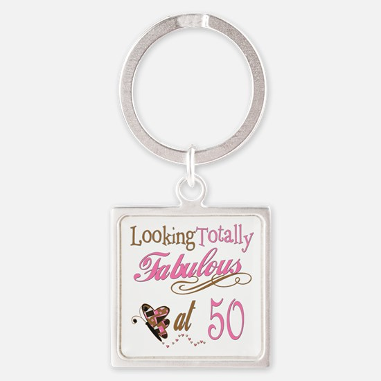 Totally Fabulous 50th Birthday Keychains
