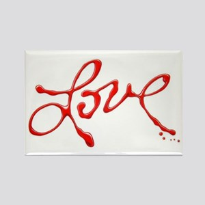 Love - Red Abstract Magnets