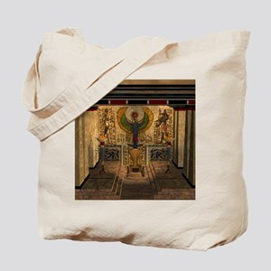 Awesome pyramid with throne Tote Bag