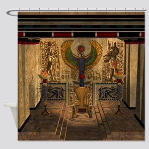 Awesome pyramid with throne Shower Curtain