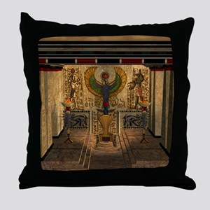 Awesome pyramid with throne Throw Pillow