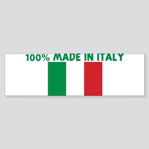 100 PERCENT MADE IN ITALY Bumper Sticker