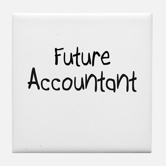 Future Accountant Tile Coaster