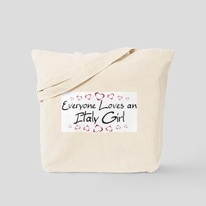 Italy Girl Tote Bag