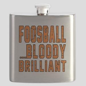 Foosball Bloody Brilliant Sports Designs Flask