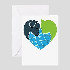 i love animals Greeting Cards