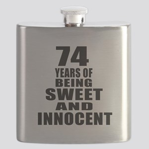 74 Years Being Sweet And Innocent Flask