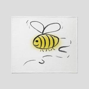 Bee Zoom Throw Blanket