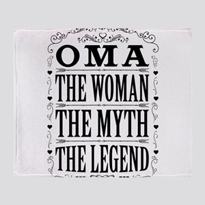 Oma The Legend... Throw Blanket