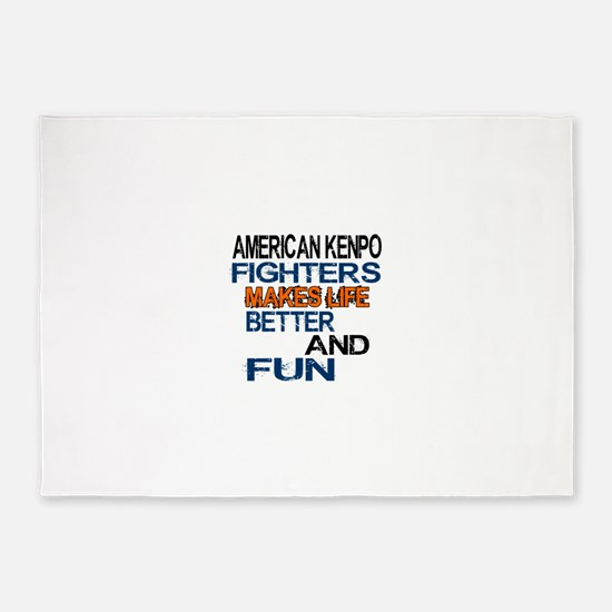 American Kenpo Fighters Makes Life 5'x7'Area Rug