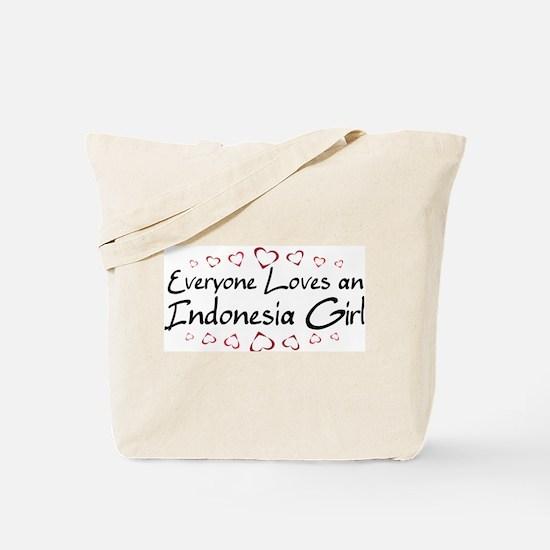 Indonesia Girl Tote Bag