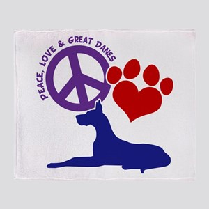 P,L, GREAT DANES Throw Blanket