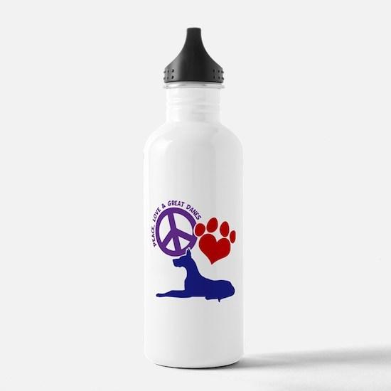 P,L, GREAT DANES Water Bottle