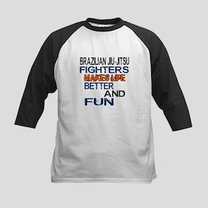 Brazilian Jiu Jitsu Fighters Kids Baseball Jersey