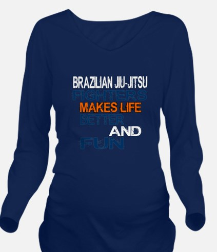 Brazilian Jiu Jitsu Long Sleeve Maternity T-Shirt