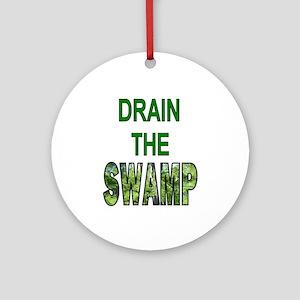 Drain The Swamp Round Ornament
