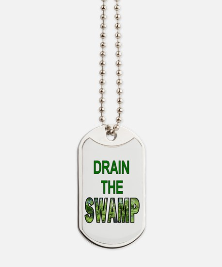 Drain The Swamp Dog Tags