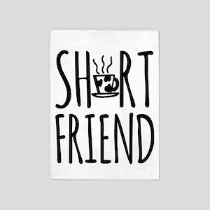 Coffee BFF Short Friend 5'x7'Area Rug