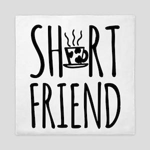 Coffee BFF Short Friend Queen Duvet
