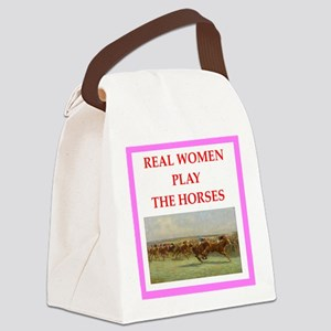 horse race Canvas Lunch Bag